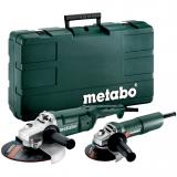 METABO COMBO SET WE 2200-230 + W 750-125 hálózati gépcsomag (műanyag hordtáskában)