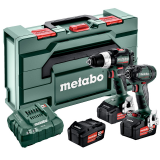 METABO COMBO SET 2.6.3 18V BL akkus gépcsomag (3 x 5.2 Ah Li-Power akkuval, metaBOX kofferben)