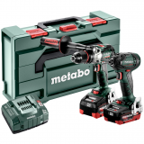 METABO COMBO SET 2.1.15 18 V BL szénkefe nélküli akkus gépcsomag (2 x 5.5 Ah LiHD akkuval, MetaBox kofferben)