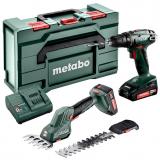 METABO COMBO SET 2.2.5 18V akkumulátoros gépcsomag (2 x 2.0 Ah Li-Power akkuval, MetaBox kofferben)