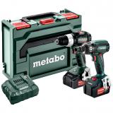 METABO COMBO SET 2.1.19 18V BL szénkefe nélküli akkus gépcsomag (2 x 5.2 Ah Li-Power akkuval, metaBOX kofferben)