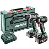 METABO COMBO SET 2.9.2.18 V szénkefe nélküli akkus gépcsomag (1 x 2.0 Ah és 1 x 5.2 Ah Li-Power akkuval, metaBOX kofferben)