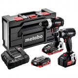 METABO COMBO SET 2.2.6 18 V BL SE akkus gépcsomag (2 x 4.0 Ah LiHD + 1 x 5.2 Ah Li-Power akkuval, MetaBox kofferben)