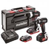 METABO COMBO SET 2.2.7 18 V BL SE akkus gépcsomag (2 x 4.0 Ah LiHD + 1 x 5.2 Ah Li-Power  akkuval, MetaBox kofferben)