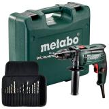METABO SBE 650 SET ütvefúró (műanyag hordtáskában) + fúrókészlet