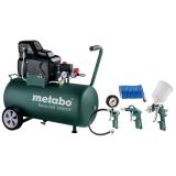 METABO BASIC 250-50 W OF SET kompresszor + sűrített levegős szerszámkészlet