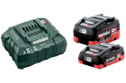 METABO 18 V-os akku csomag (1 x 4.0 Ah és 1 x 5.5 Ah LiHD akku, töltő)