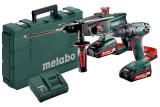 METABO COMBO SET 2.3.2 18 V akkus gépcsomag (2 x 2.0 Ah Li-Power akkuval, műanyag hordtáskában)