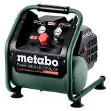 METABO POWER 160-5 18 LTX BL OF szénkefe nélküli akkus kompresszor (akku és töltő nélkül)
