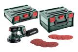 METABO SXA 18 LTX 125 BL SET szénkefe nélküli akkumulátoros excentercsiszoló (akku és töltő nélkül, metaBOX kofferek) + tartozékok