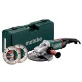 METABO WE 24-230 MVT SET sarokcsiszoló (műanyag hordtáskában) + 2 db gyémánt darabolótárcsa