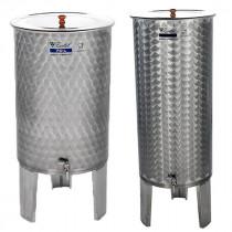 Úszófedeles és pumpás rozsdamentes bortartályok