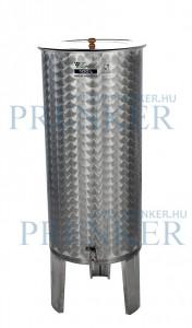 Úszófedeles INOX bortartály, 100 l termék fő termékképe