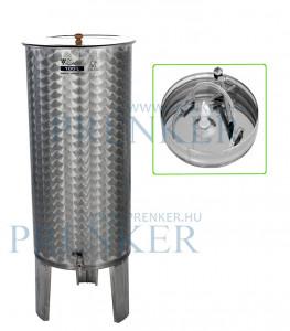 Úszófedeles INOX bortartály, 100 l - pumpás szettel termék fő termékképe