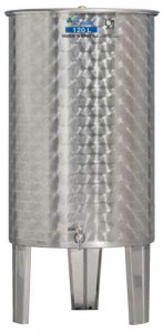 Úszófedeles INOX bortartály, 120 l termék fő termékképe