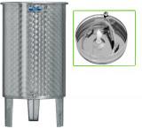 Úszófedeles INOX bortartály, 200 l - 1 csapos, pumpás szettel