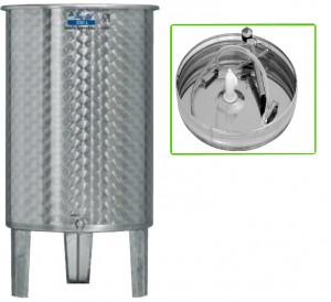 Úszófedeles INOX bortartály, 200 l - 1 csapos, pumpás szettel termék fő termékképe