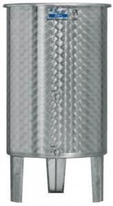 Úszófedeles INOX bortartály, 200 l - 2 csapos termék fő termékképe