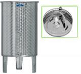 Úszófedeles INOX bortartály, 200 l - 2 csapos, pumpás szettel