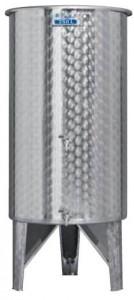 Úszófedeles INOX bortartály, 250 l - 2 csapos termék fő termékképe