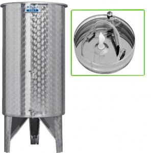 Úszófedeles INOX bortartály, 250 l - 2 csapos, pumpás szettel termék fő termékképe