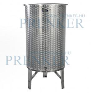 Úszófedeles INOX bortartály, 300 l - 1 csapos termék fő termékképe