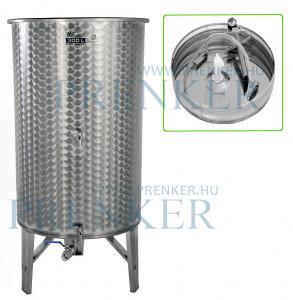 Úszófedeles INOX bortartály, 300 l - 3 csapos, pumpás szettel termék fő termékképe