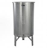 Úszófedeles INOX bortartály, 380 l - 1 csapos