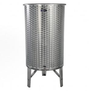 Úszófedeles INOX bortartály, 380 l - 1 csapos termék fő termékképe