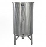 Úszófedeles INOX bortartály, 380 l - 2 csapos