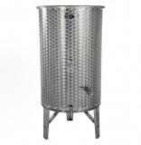 Úszófedeles INOX bortartály, 380 l - 3 csapos