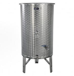 Úszófedeles INOX bortartály, 380 l - 3 csapos termék fő termékképe