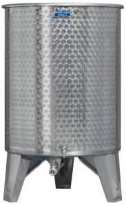 Úszófedeles INOX bortartály, 500 l - 1 csapos termék fő termékképe