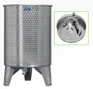 Úszófedeles INOX bortartály, 500 l - 1 csapos, pumpás szettel termék fő termékképe