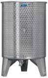 Úszófedeles INOX bortartály, 500 l - 3 csapos