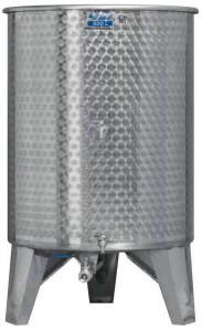 Úszófedeles INOX bortartály, 500 l - 3 csapos termék fő termékképe