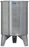 Úszófedeles INOX bortartály, 500 l - 2 csapos
