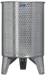 Úszófedeles INOX bortartály, 500 l - 2 csapos termék fő termékképe