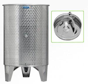 Úszófedeles INOX bortartály, 600 l - 2 csapos, pumpás szettel termék fő termékképe