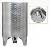 Úszófedeles INOX bortartály, 600 l - 3 csapos, pumpás szettel