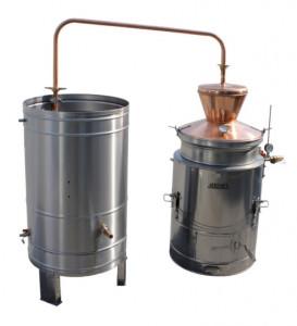 Pálinkafőző, 60L - vízhűtéses, dupla falú termék fő termékképe