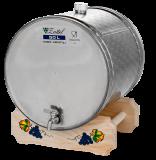 INOX pálinkás tartály, 50 l - fekvő