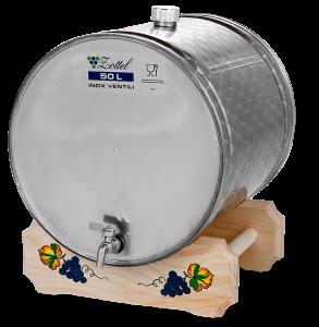 INOX pálinkás tartály, 50 l - fekvő termék fő termékképe