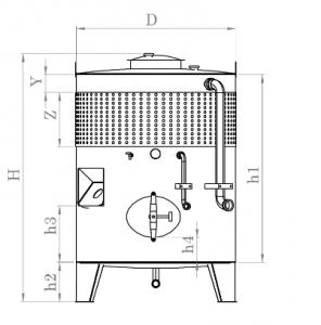 Zárt tartály hűtőpalásttal és keverő csatlakozóval - 2000 L termék fő termékképe