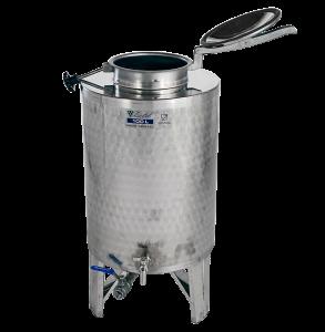 INOX pálinkás és olaj tartály, 150 l - króm csappal termék fő termékképe