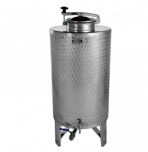 INOX pálinkás és olaj tartály, 250 l - INOX csappal termék fő termékképe
