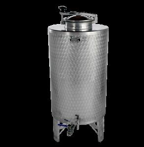 INOX pálinkás és olaj tartály, 250 l - króm csappal termék fő termékképe