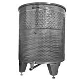 Úszófedeles INOX bortartály, 1500 l hűtőpalásttal