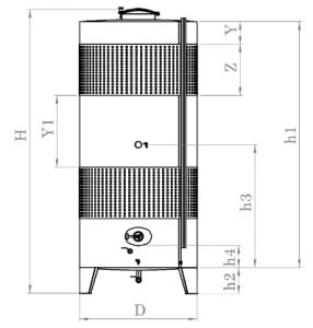 Zárt INOX bortartály, 4850 l dupla hűtőpalásttal termék fő termékképe