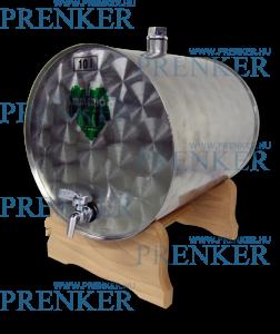 INOX pálinkás tartály, 10 l - fekvő fatalpas termék fő termékképe